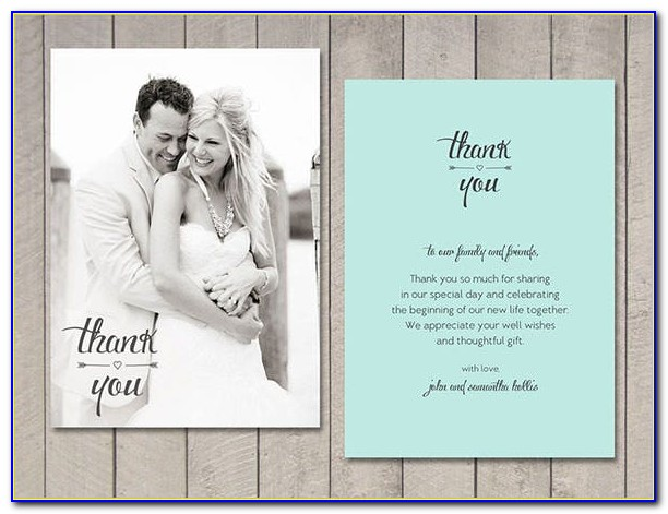 Wedding Thank You Cards Template