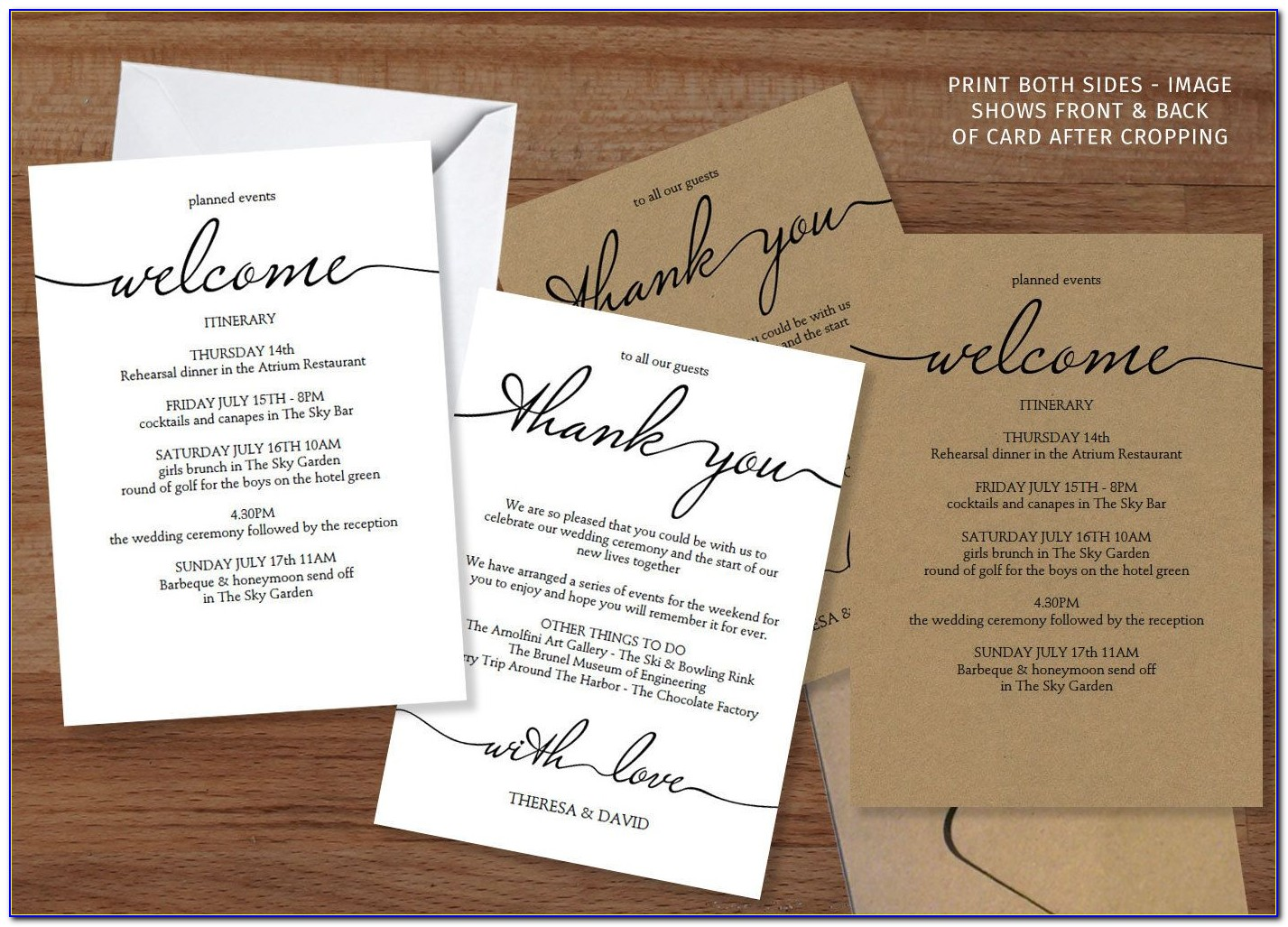 Welcome Card Template Download