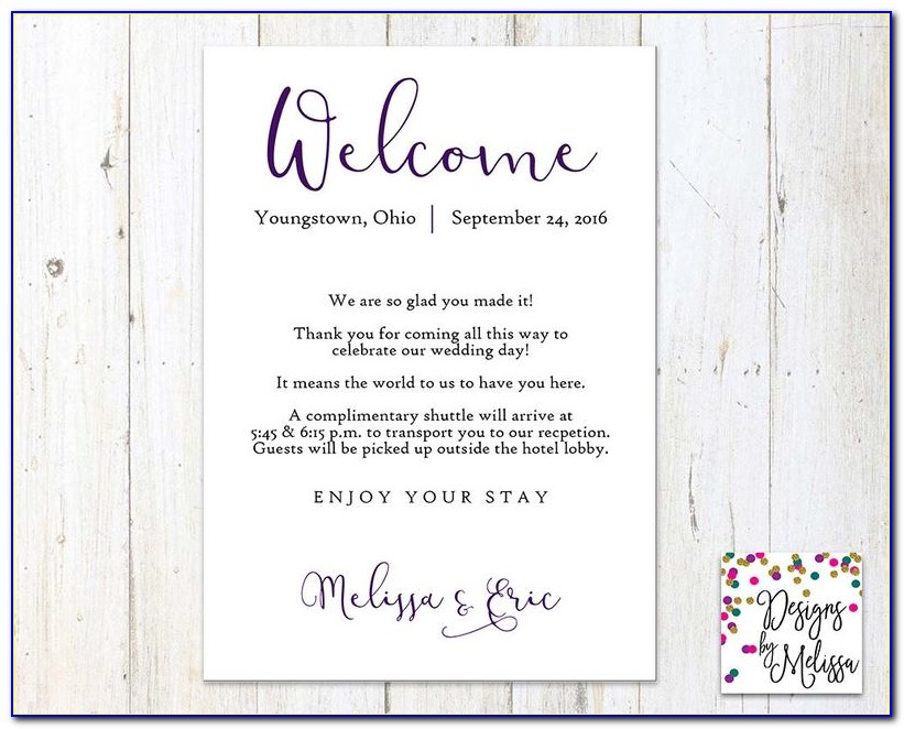 Welcome Card Template Free Download