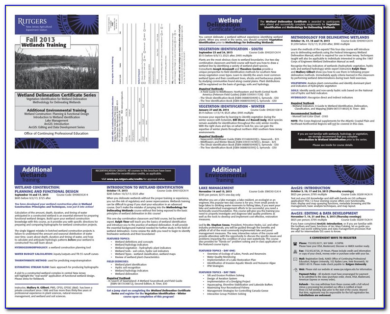 Wetland Delineation Certification Online