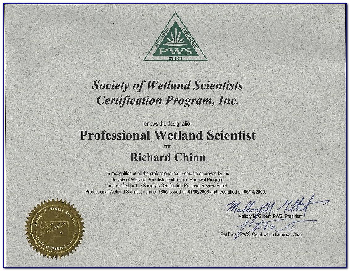 Wetland Delineation Certification Washington State