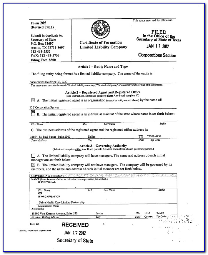 What Is A Certificate Of Formation Delaware