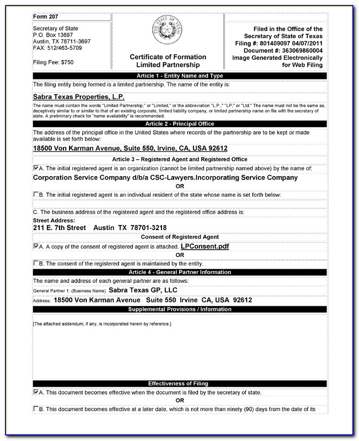 What Is A Certificate Of Formation In California
