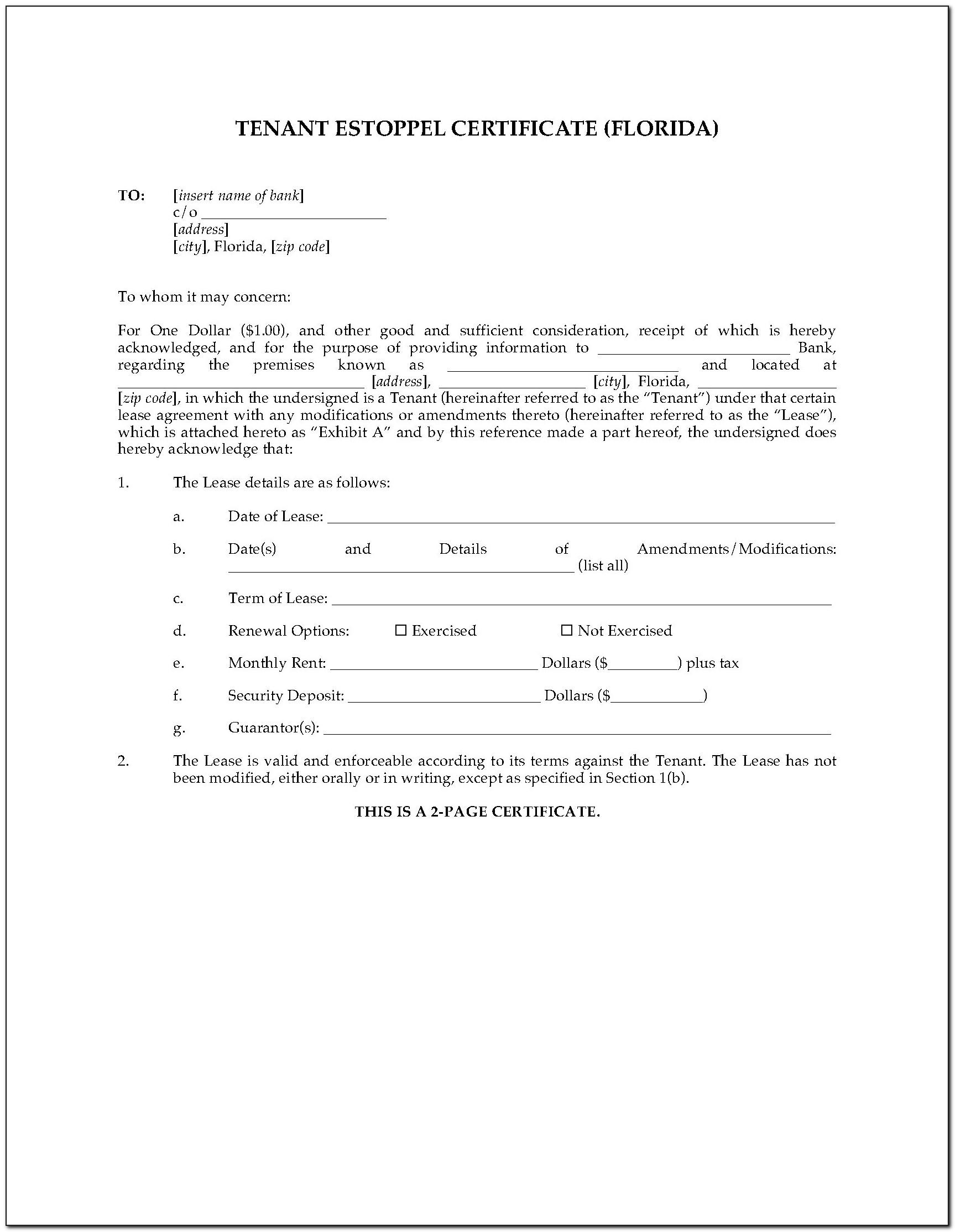 What Is An Estoppel Certificate In California