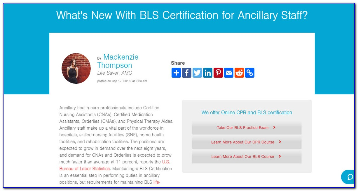 Whats Bls Certification