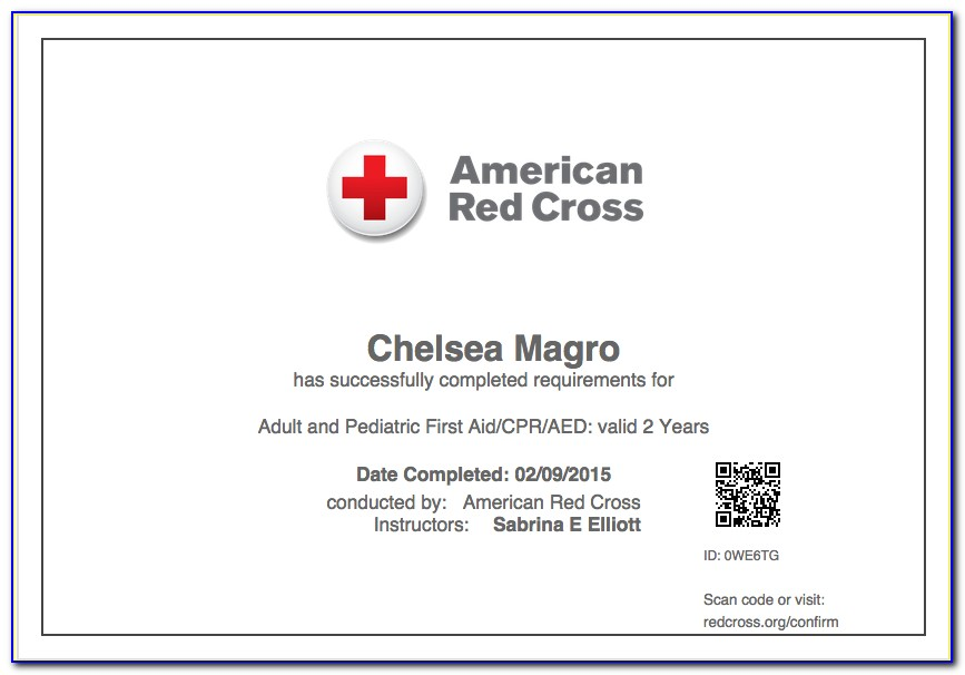 When Does My Red Cross Cpr Certification Expire