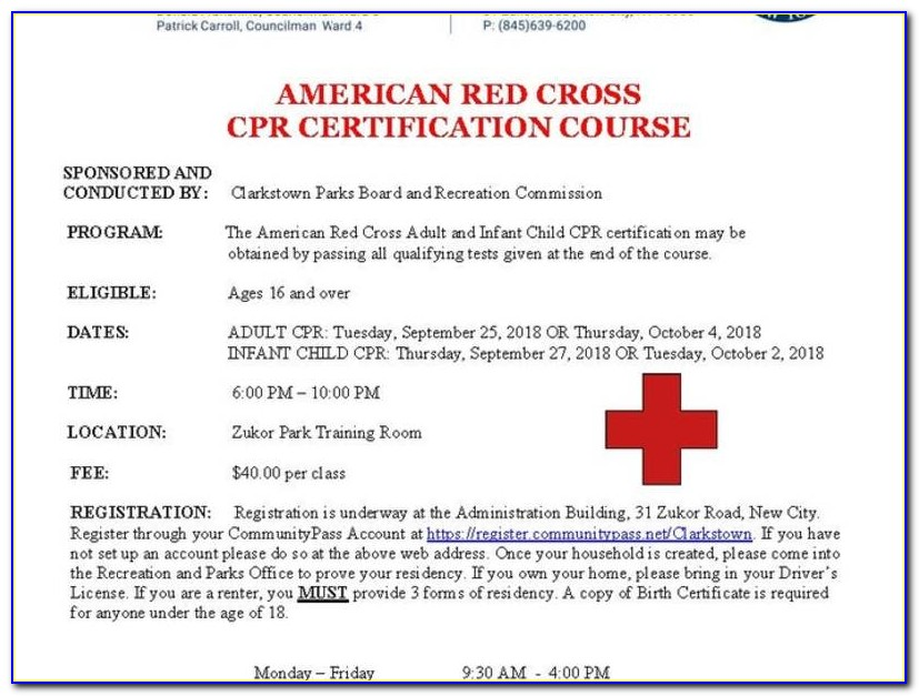 When Does Red Cross Cpr Certification Expire