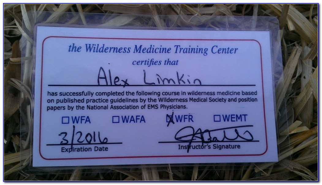 Wilderness First Responder Certification Online