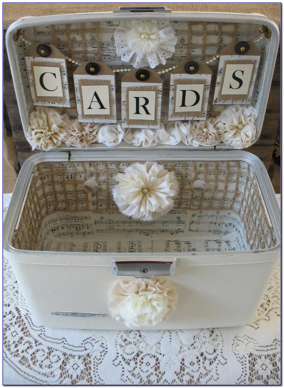 Wine Crate Wedding Card Box