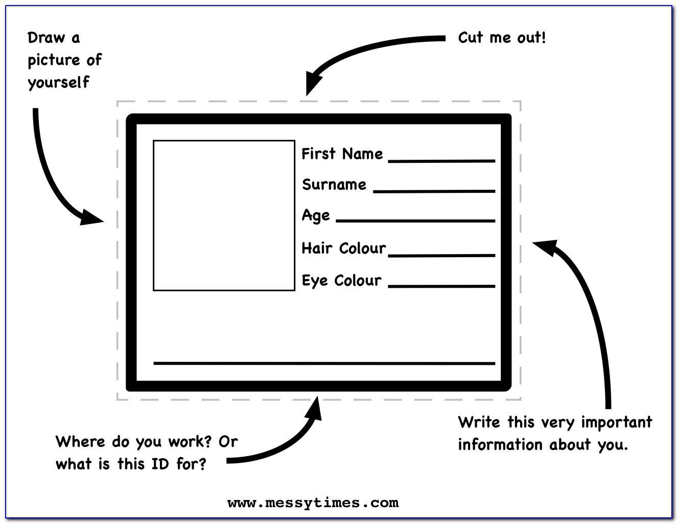 Word Printable Emergency Card Template
