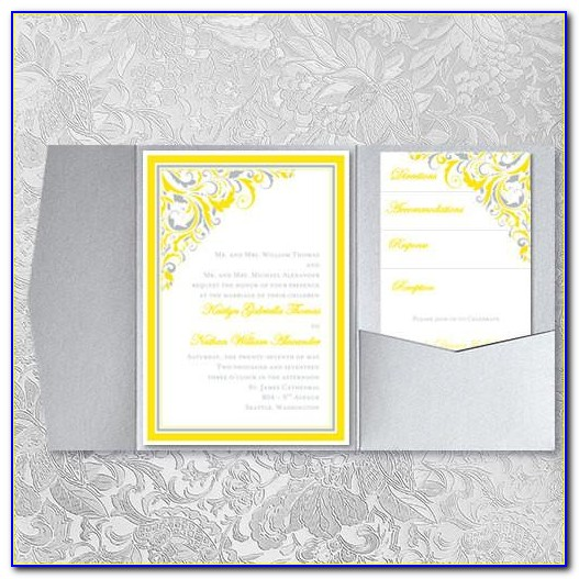 Yellow Marriage Invitation Cards