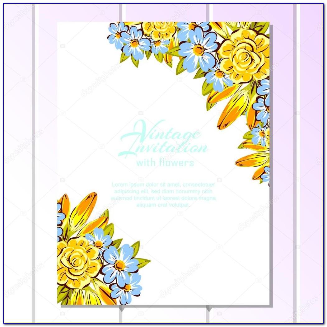 Yellow Wedding Invitation Card