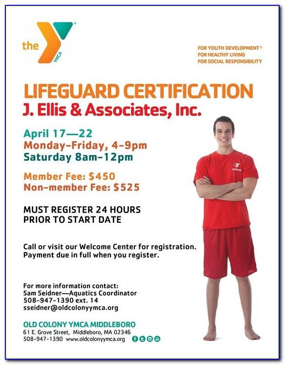 Ymca Lifeguard Certification Ri