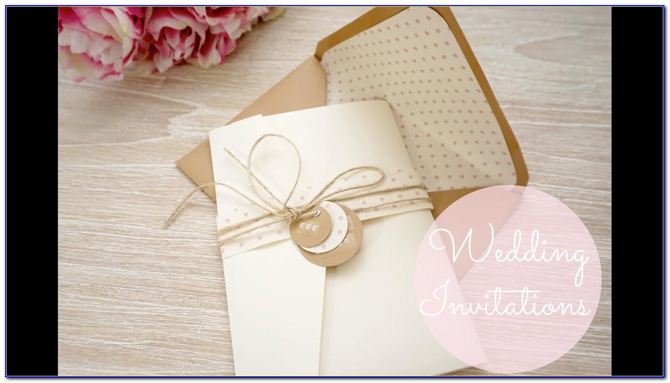 Youtube Handmade Wedding Cards