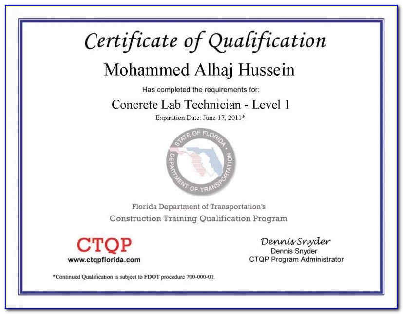 Aci Concrete Field Technician Certification Level 1