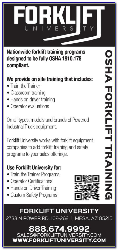 Ahern Forklift Certification Las Vegas