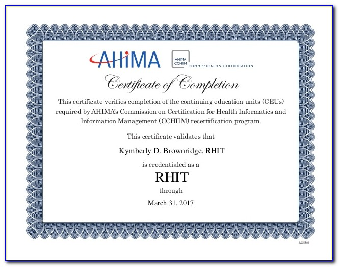 Ahima Certification Online