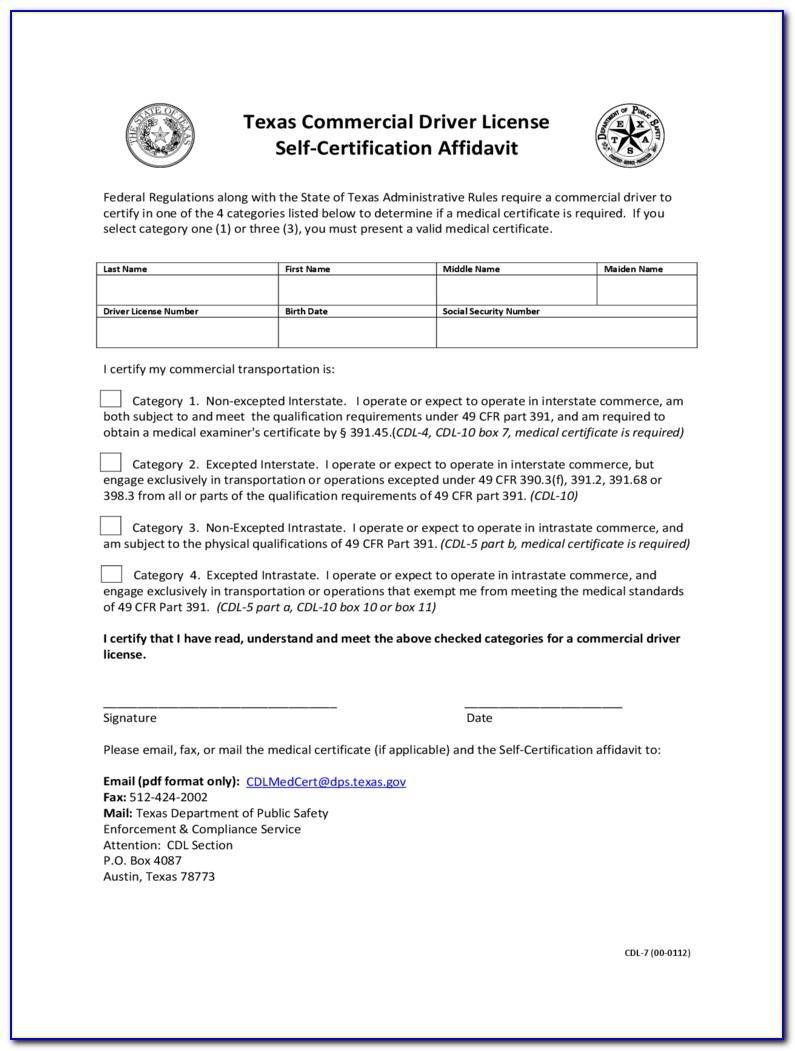 Alabama Cdl Self Certify