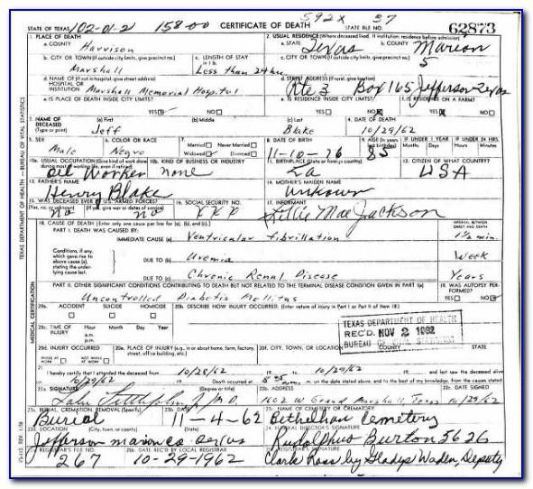 Alameda County California Death Certificates