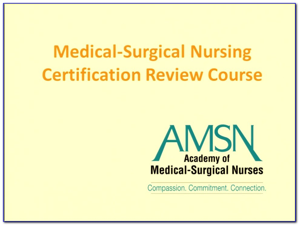 Ancc Medical Surgical Certification Practice Test