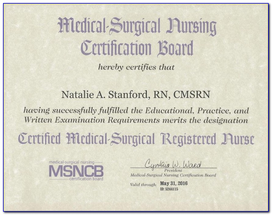 Ancc Medical Surgical Certification Renewal