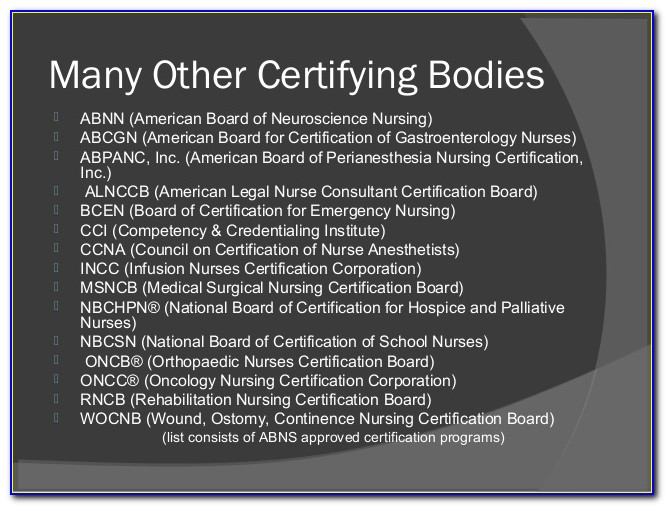 Ancc Medical Surgical Certification Sample Questions