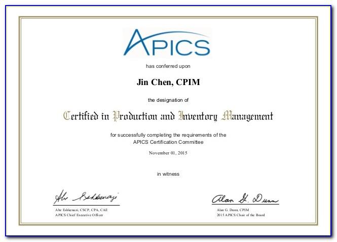 Apics Cpim Certification Cost In India