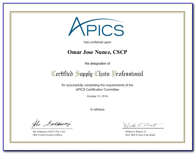Apics Cpim Certification Cost