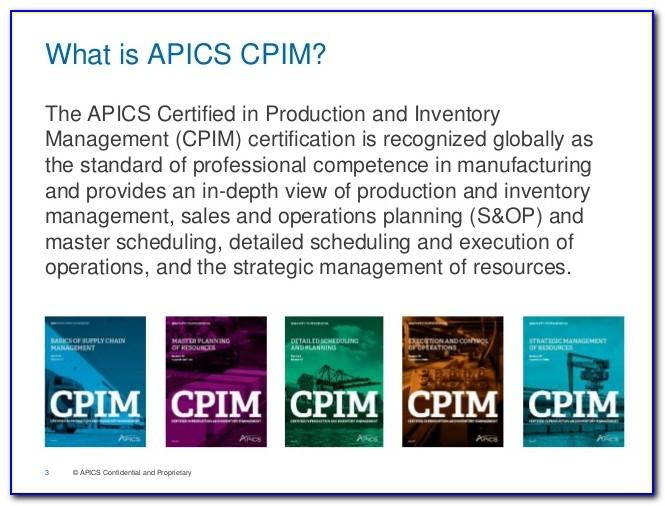 Apics Cpim Certification Material Free