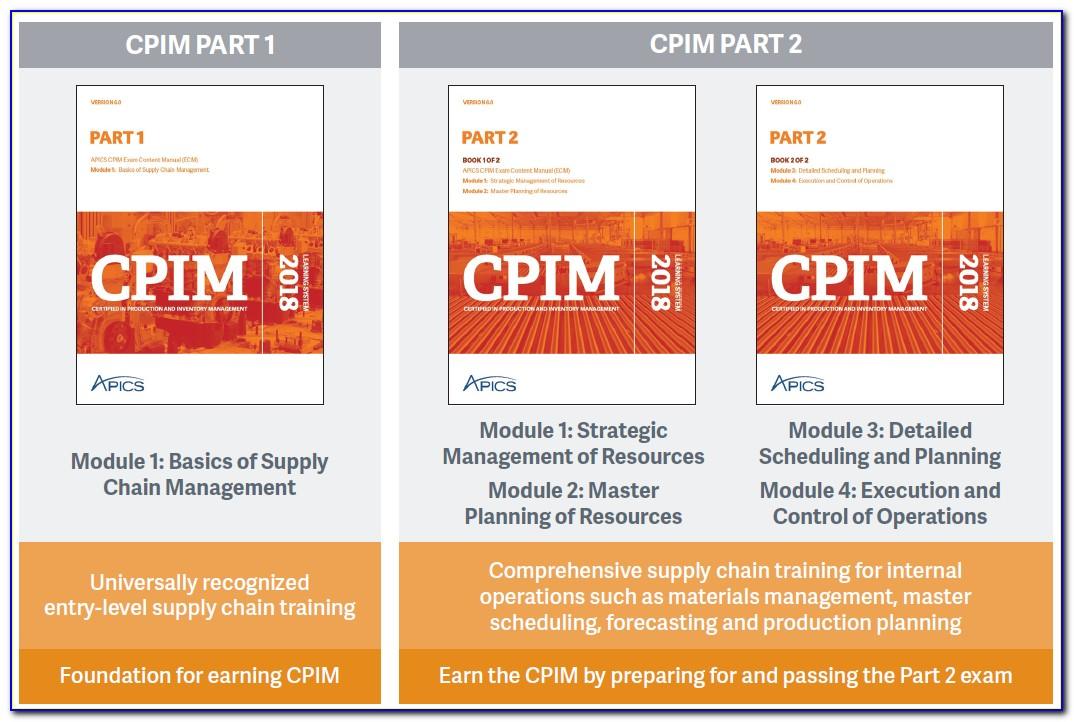 Apics Cpim Certification Online