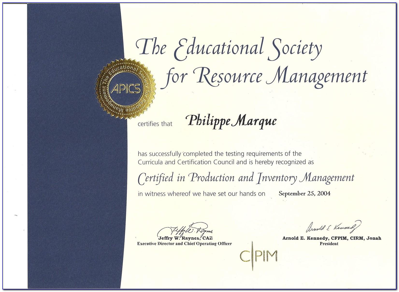 Apics Cpim Certification Uk