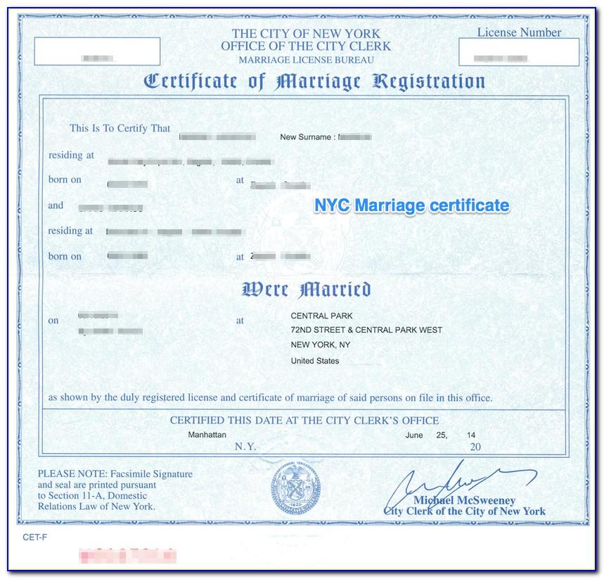 Apostille Stamp Birth Certificate New York