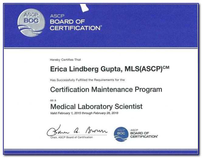 Ascp Mlt Certification Renewal