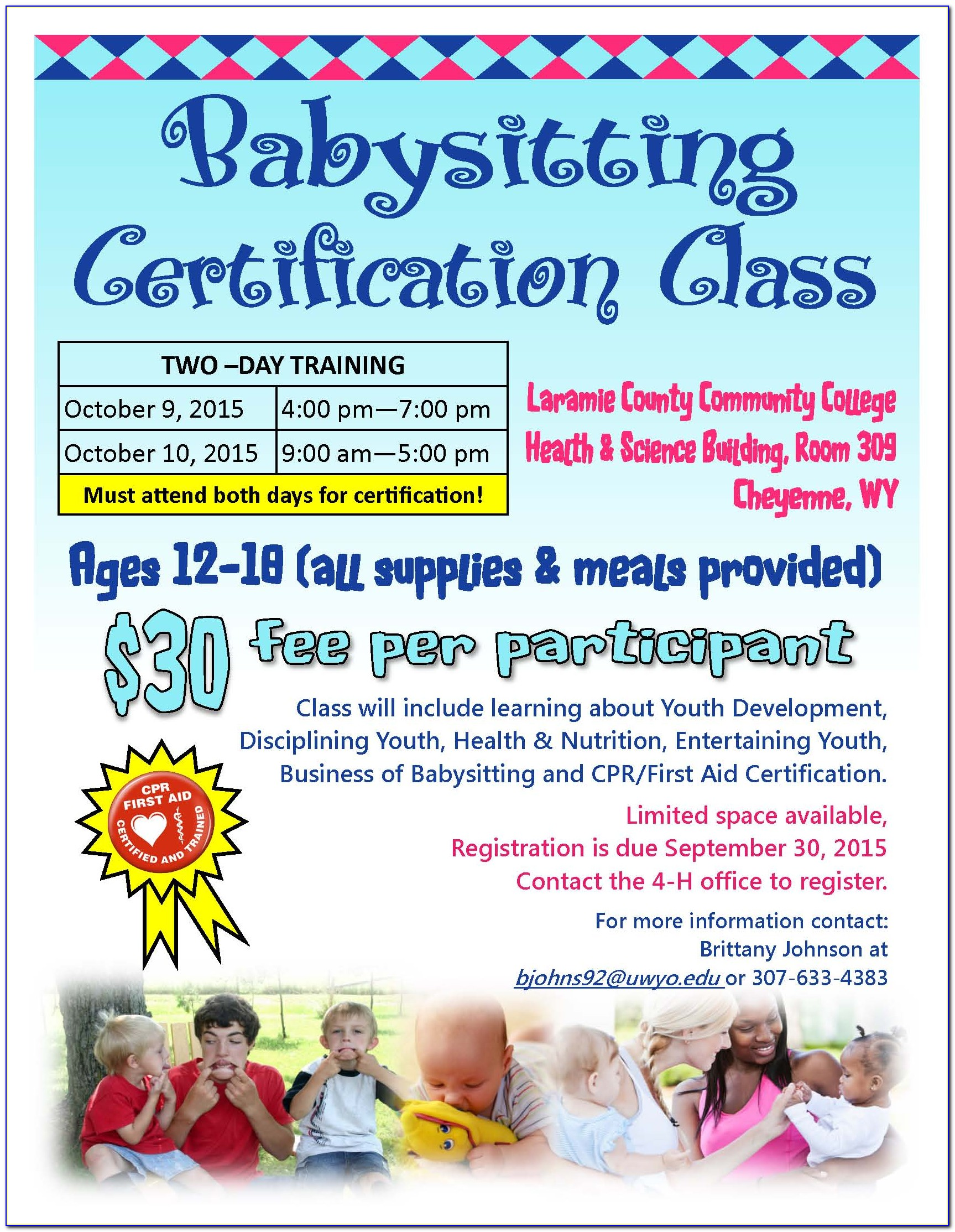 Babysitting Certification Classes Ymca