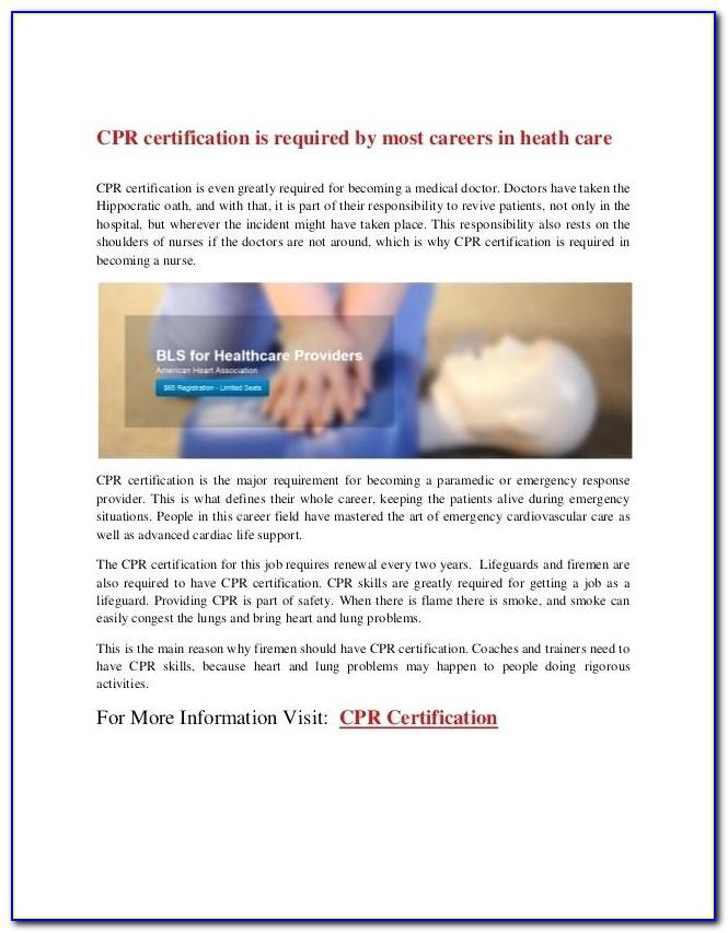 Basic Life Support Certification Verification