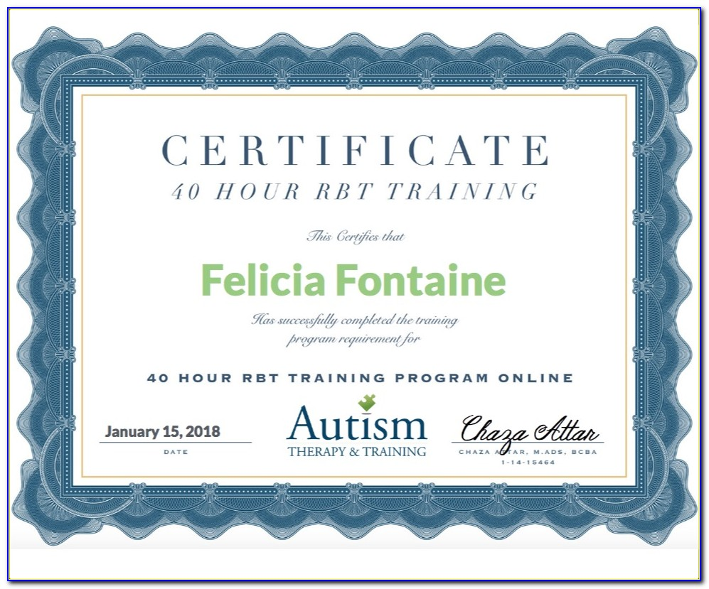Bcba Certificate Online Programs