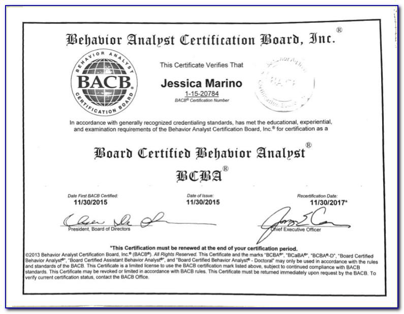 Bcba Certification Courses