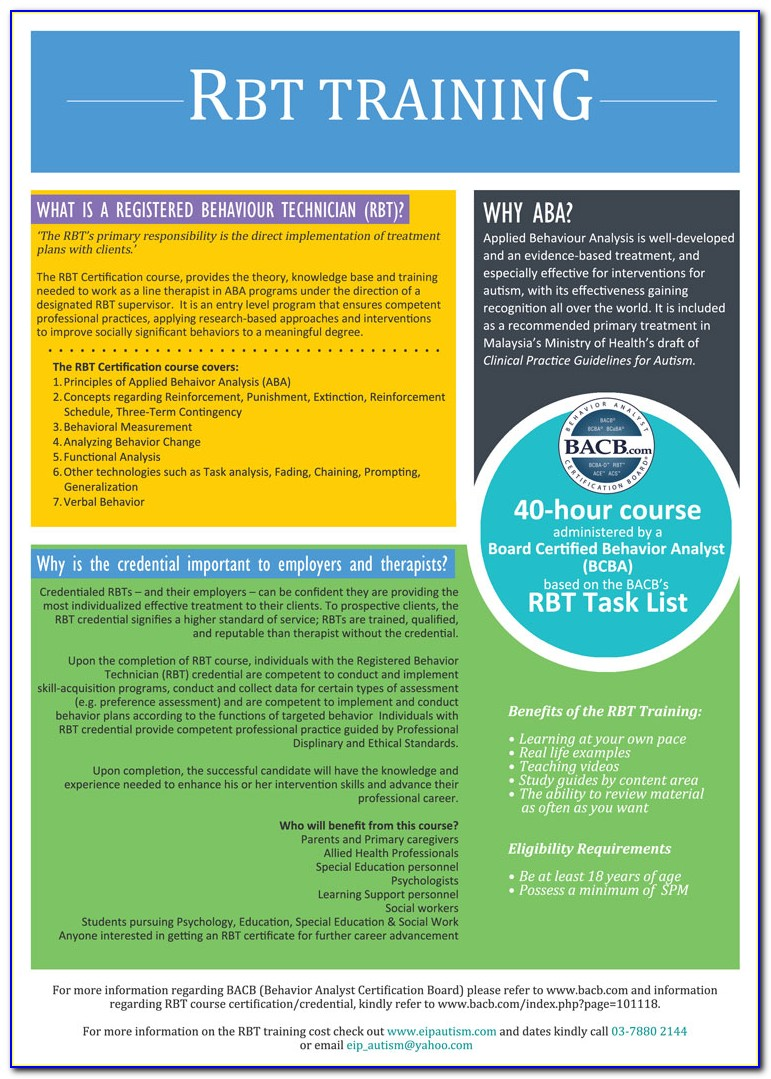 Bcba Certification Coursework