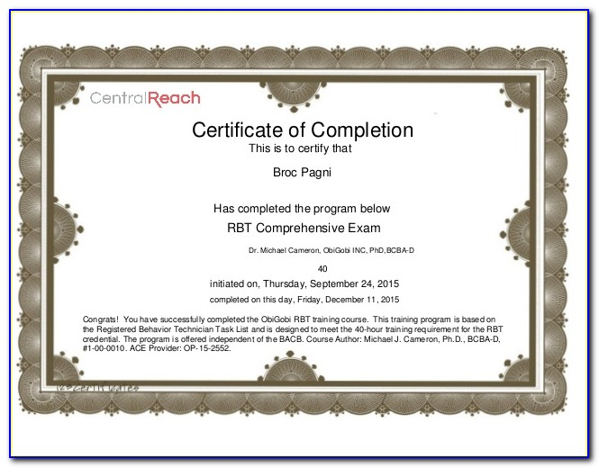 Bcba Certification Online Texas