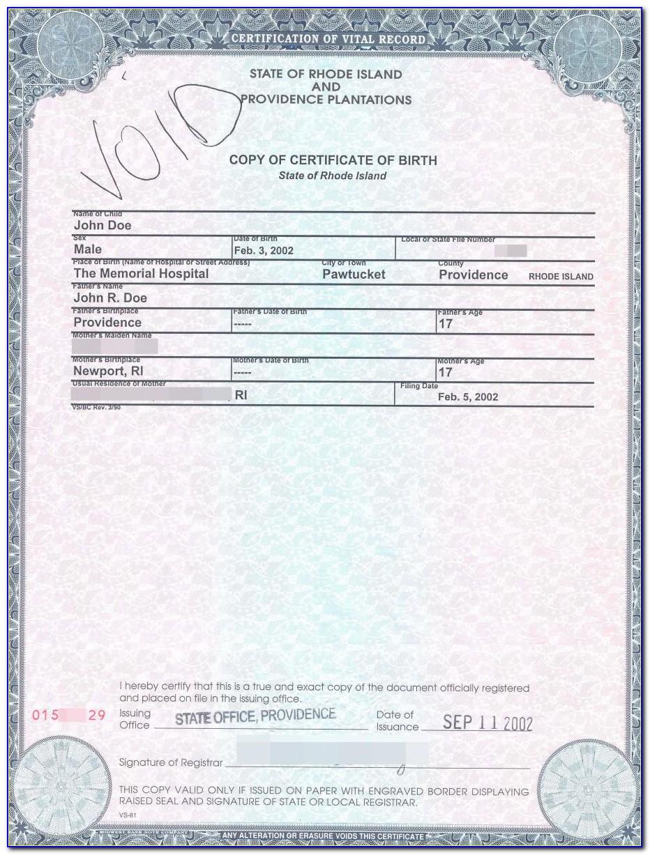 Birth Certificate Bridgeport Ct