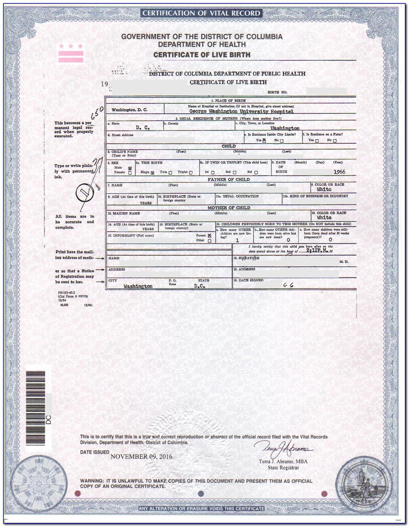 Birth Certificate Copies Spokane Wa
