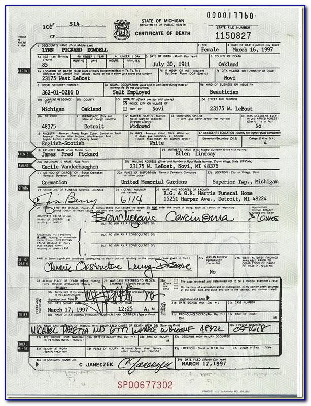 Birth Certificate Copy Oakland County Michigan