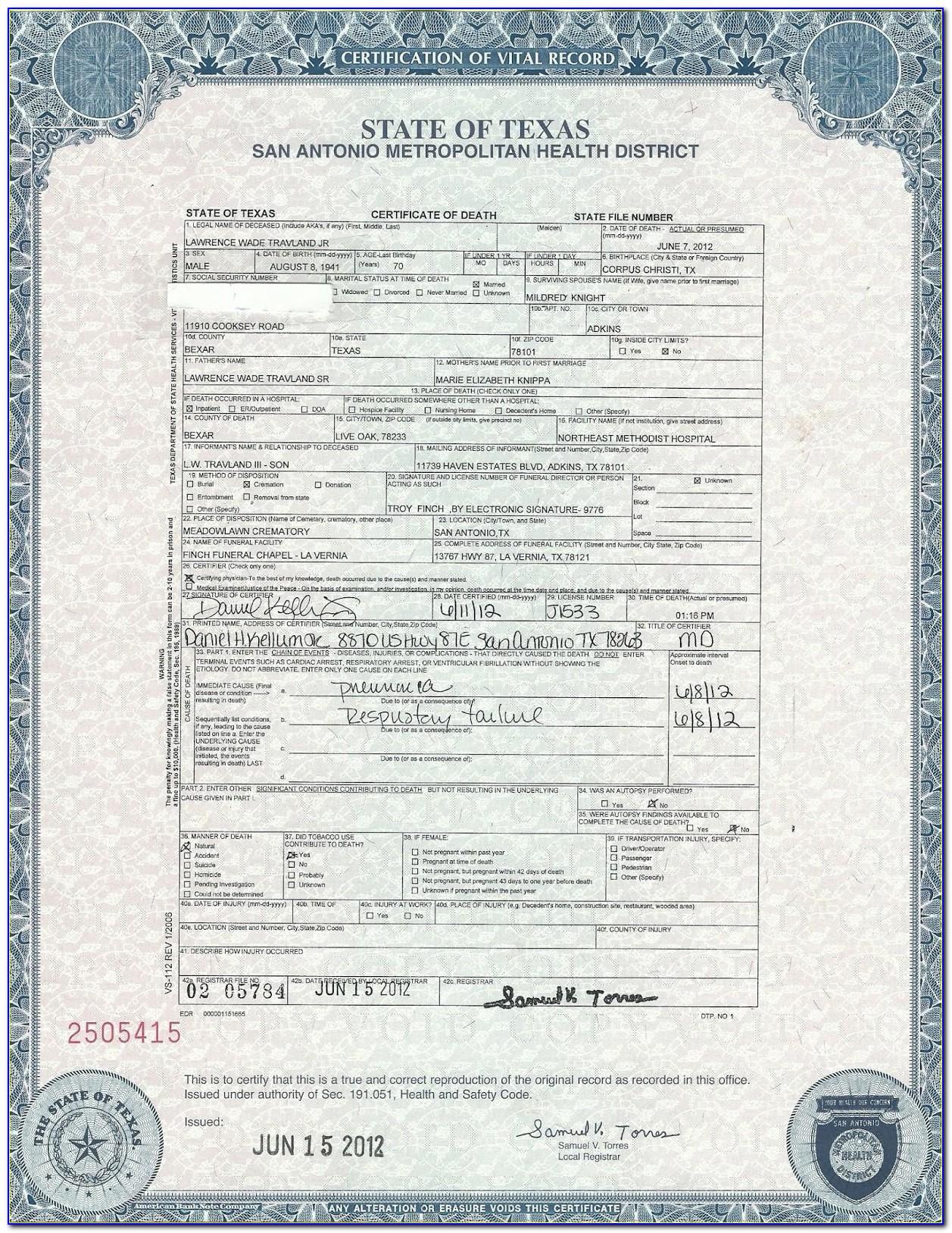 Birth Certificate Office Pasadena Texas