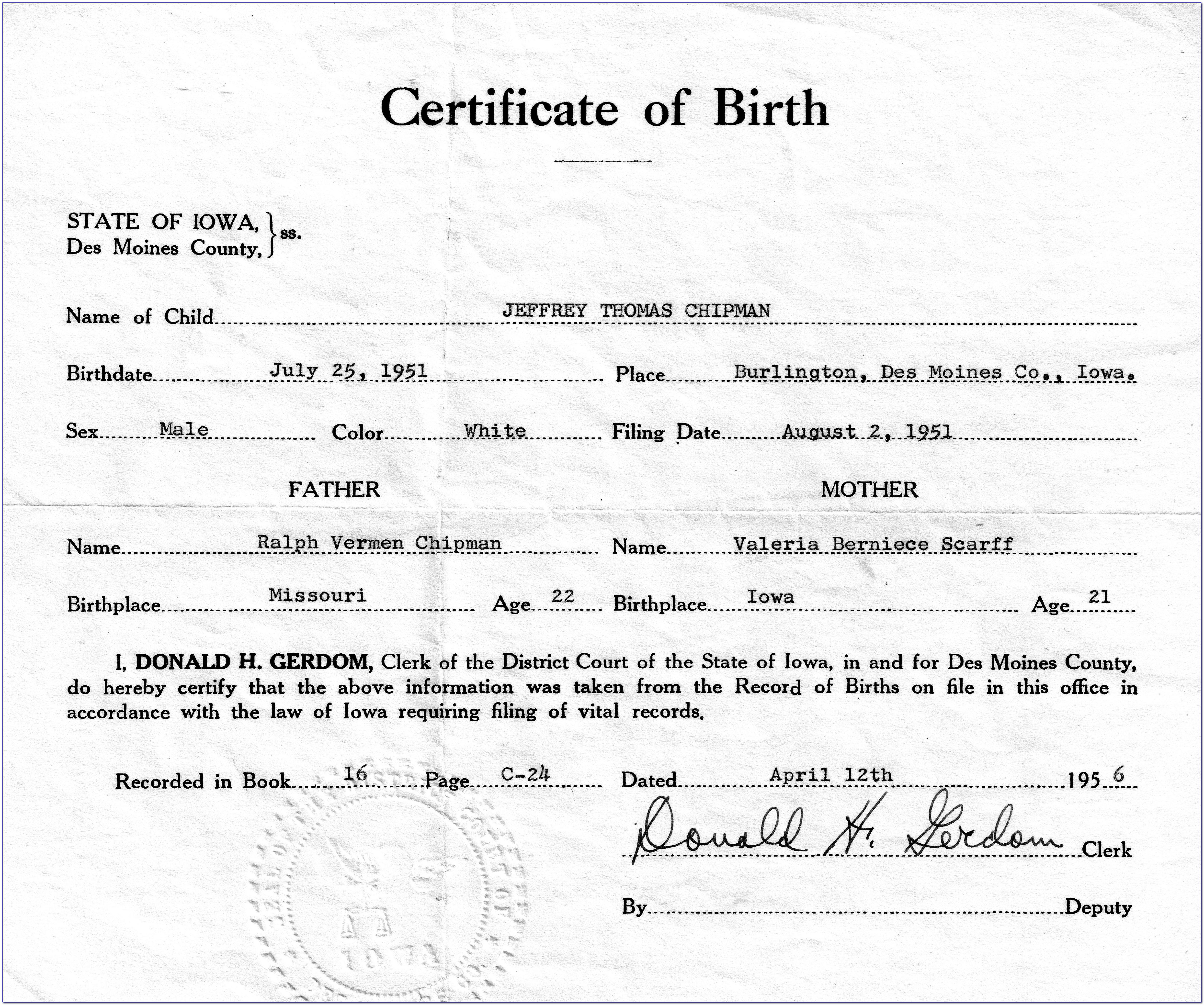 Birth Certificate Replacement Bridgeport Ct