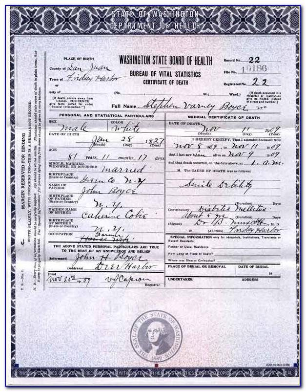 Birth Certificate Replacement Spokane Wa