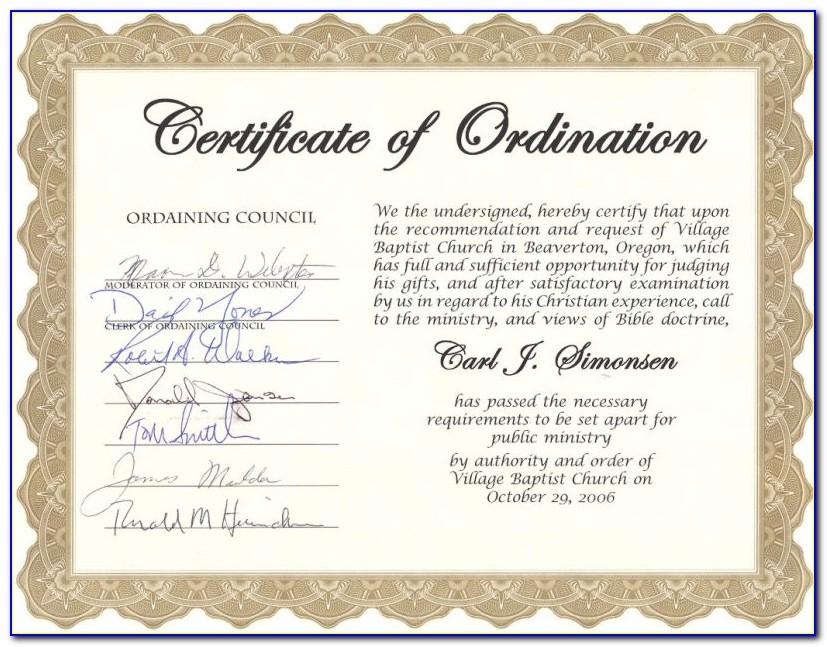 Bishop Ordination Certificate Template