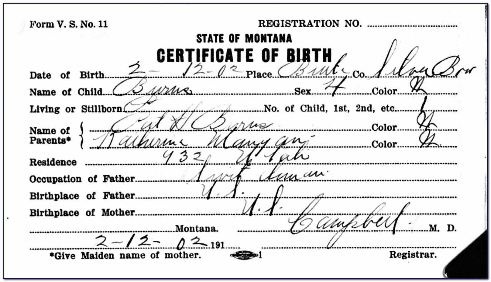 Butte County Records Birth Certificates