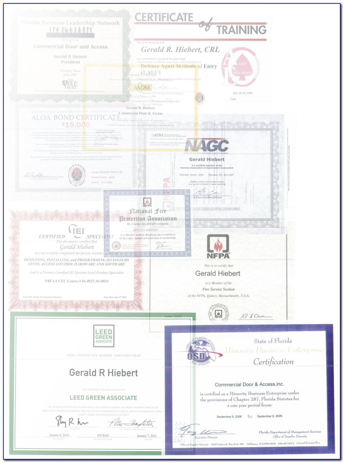 Cda Certification Florida Requirements