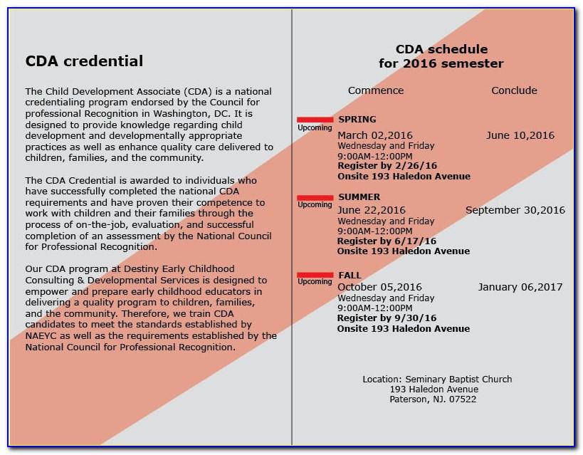Cda Certification Jersey City Nj