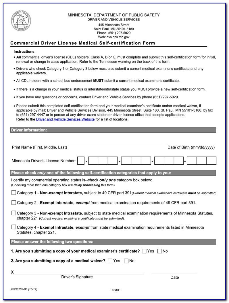 Cdl Self Certification Online Ma